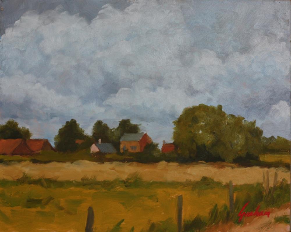 """""""Summer fields"""" original fine art by Graham Townsend"""