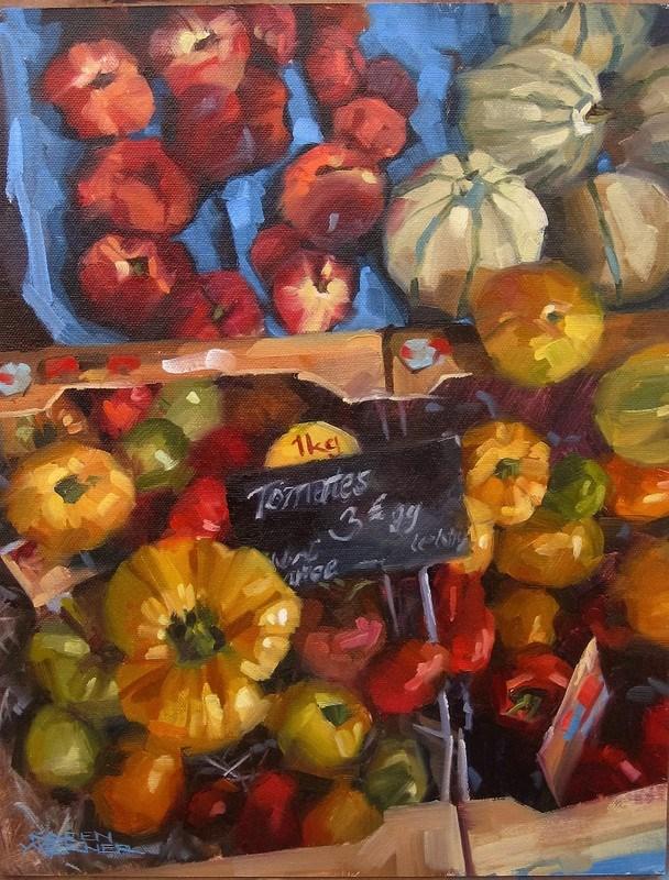 """Tomates"" original fine art by Karen Werner"