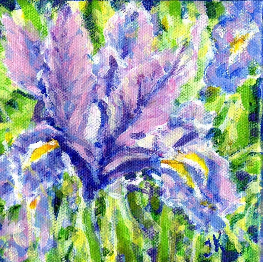 """""""Wild Iris"""" original fine art by J Kelsey"""