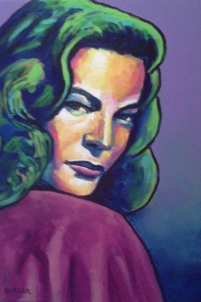 """""""Lauren Bacall"""" original fine art by Stuart Glazer"""