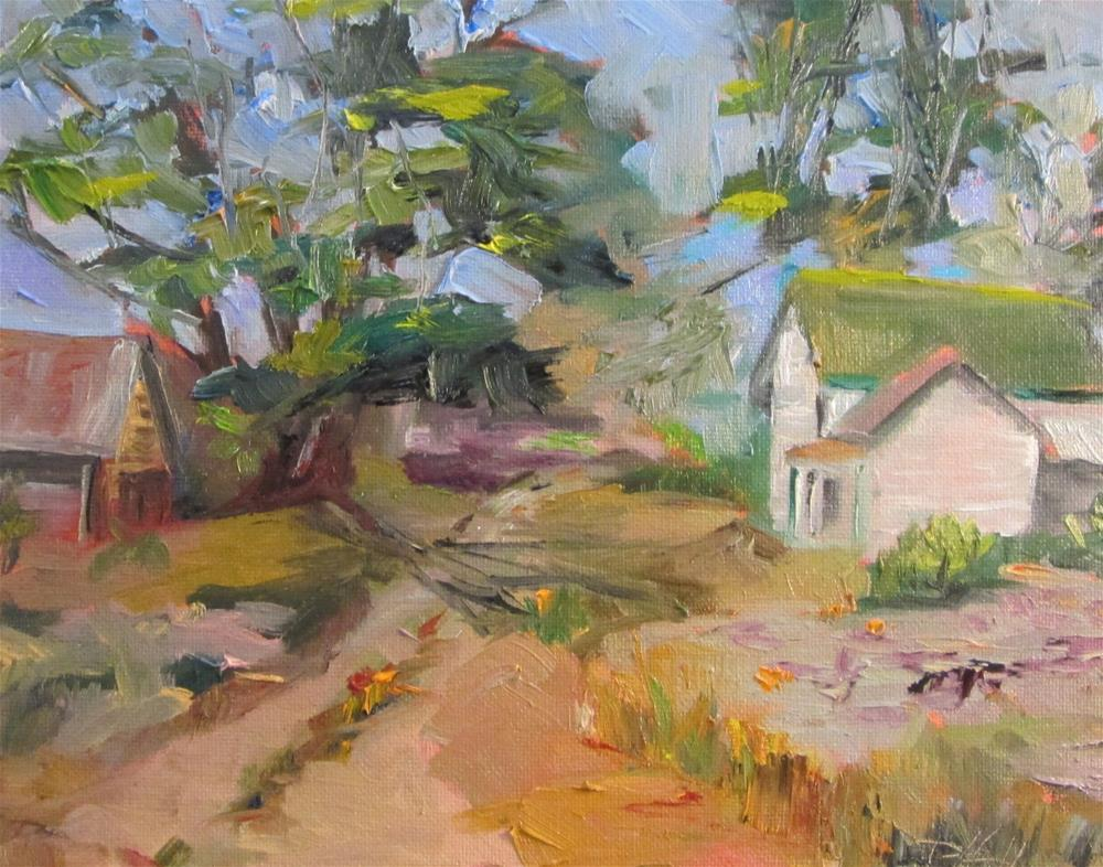 """Farm House No 3"" original fine art by Delilah Smith"