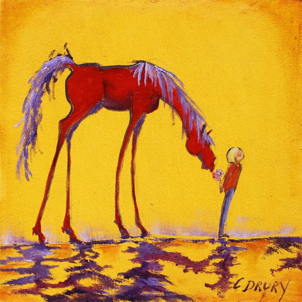 """Flowers for My Friend"" original fine art by Colleen Drury"