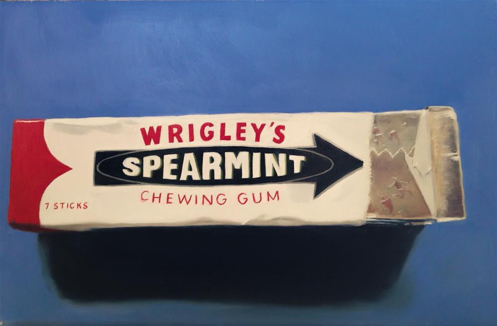 """Chewing Gum"" original fine art by James Coates"