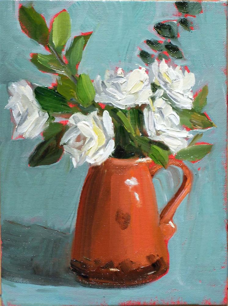 """""""Terracotta and Roses"""" original fine art by Martha Lever"""