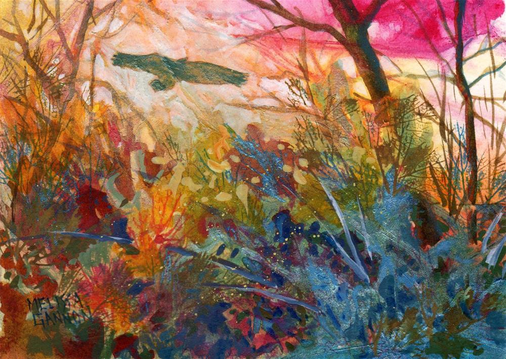 """Visiting Raven"" original fine art by Melissa Gannon"