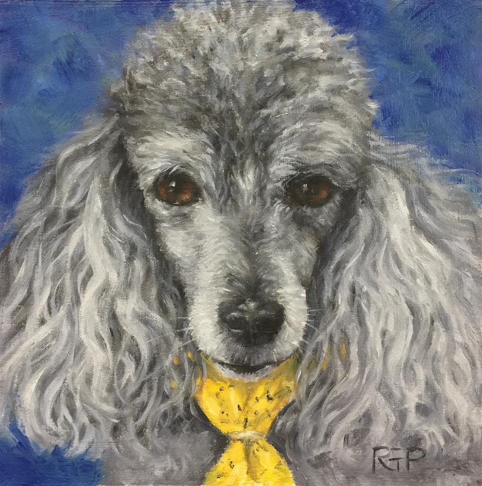 """""""Snickers (pet portrait)"""" original fine art by Rhea  Groepper Pettit"""