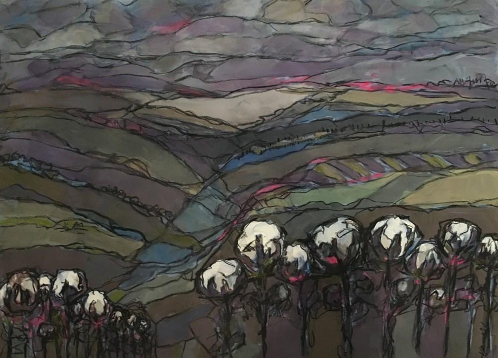 """""""cotton landscape"""" original fine art by Vicki Wood"""