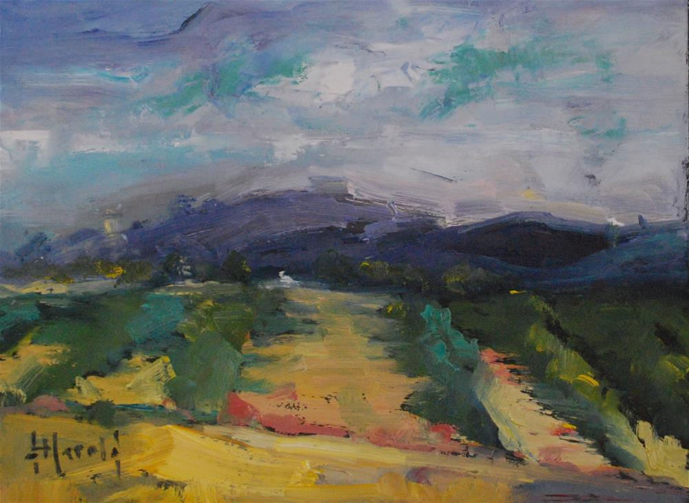"""Luberon Region of France"" original fine art by Deborah Harold"