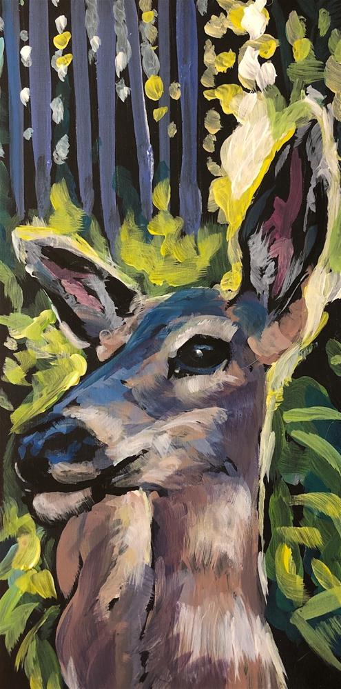 """Mama's Magic Ear"" original fine art by Kat Corrigan"