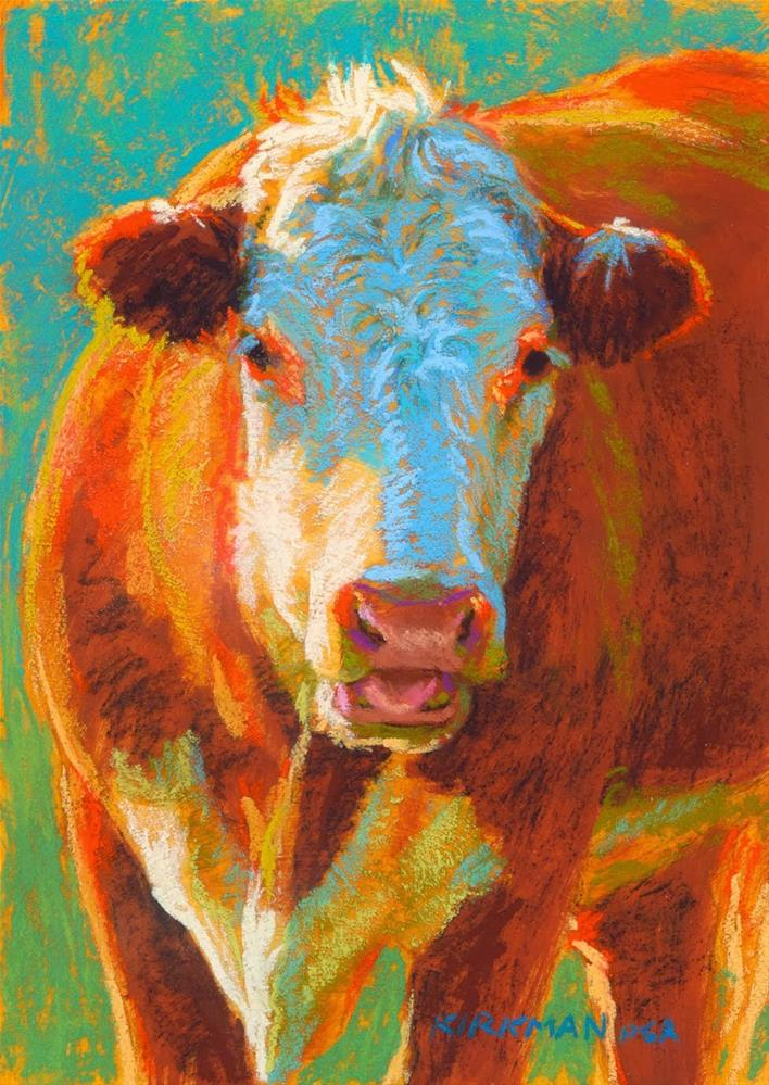 """Corabelle wins cover of 2cd Cow Volume!"" original fine art by Rita Kirkman"