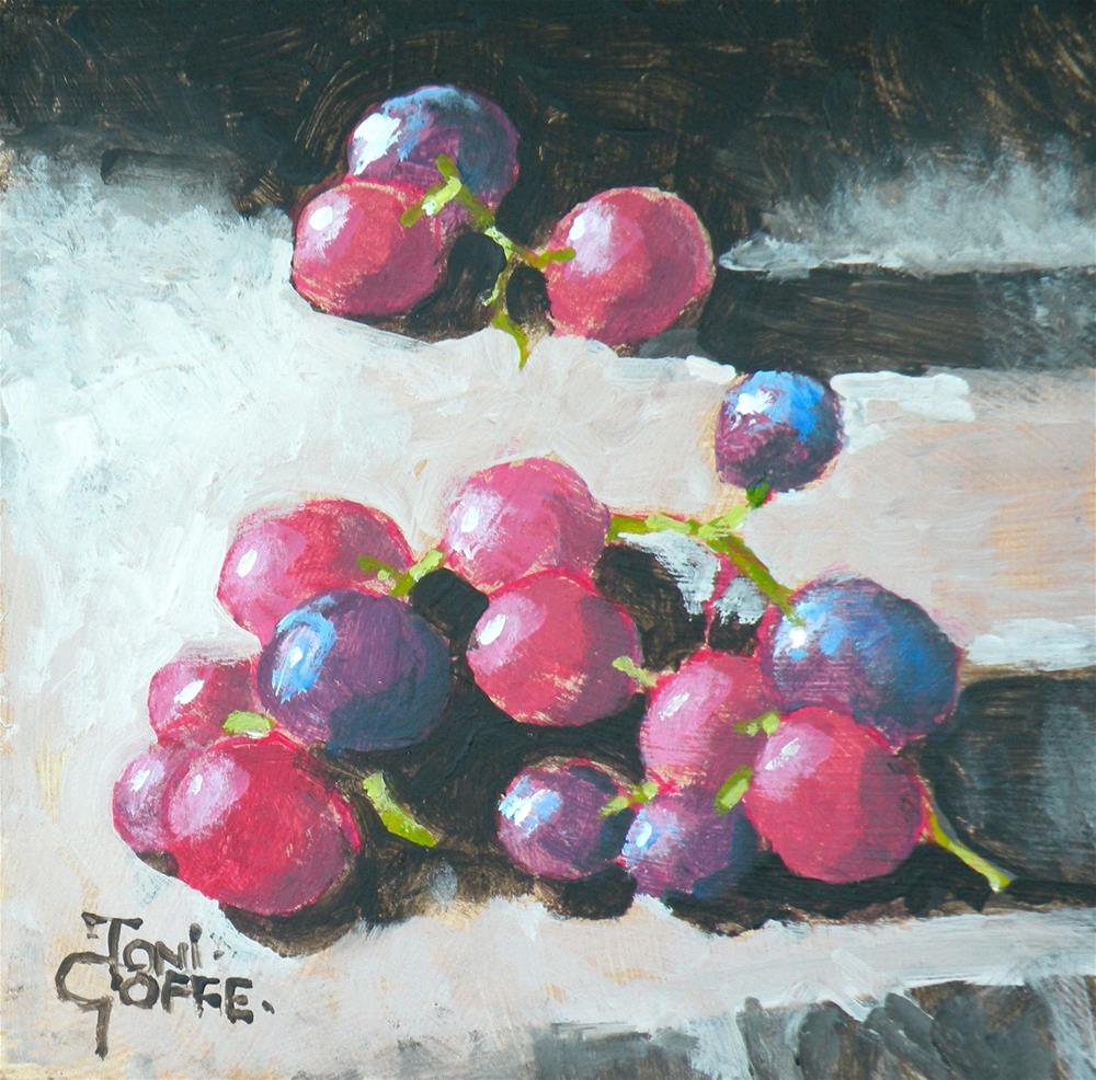"""Free Grapes"" original fine art by Toni Goffe"