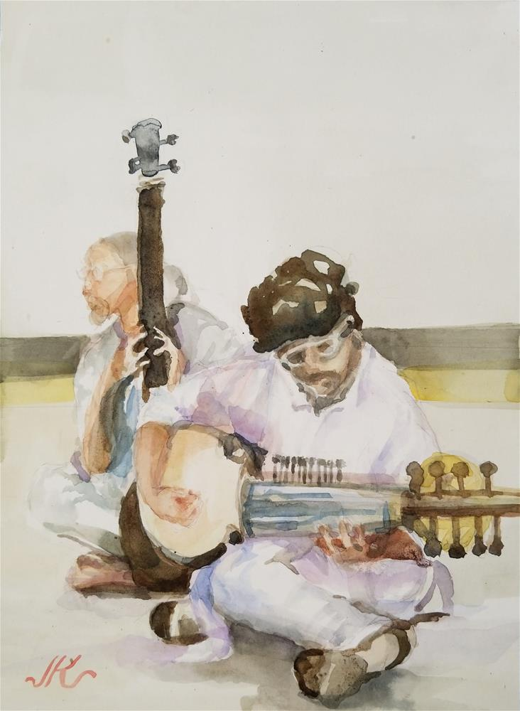 """Musicians"" original fine art by Jean Krueger"