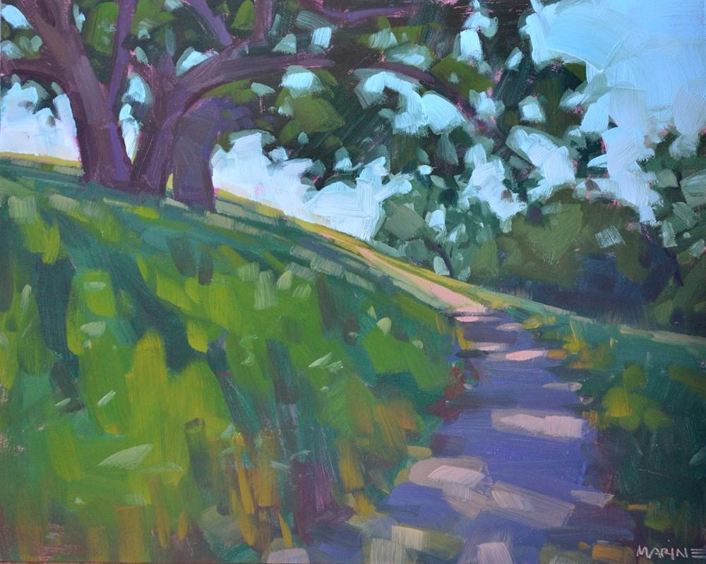 """Winding Uphill"" original fine art by Carol Marine"