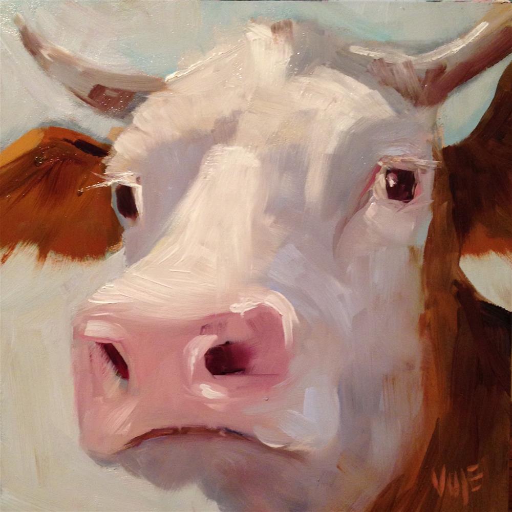 """""""#37 Holy Cow"""" original fine art by Patty Voje"""