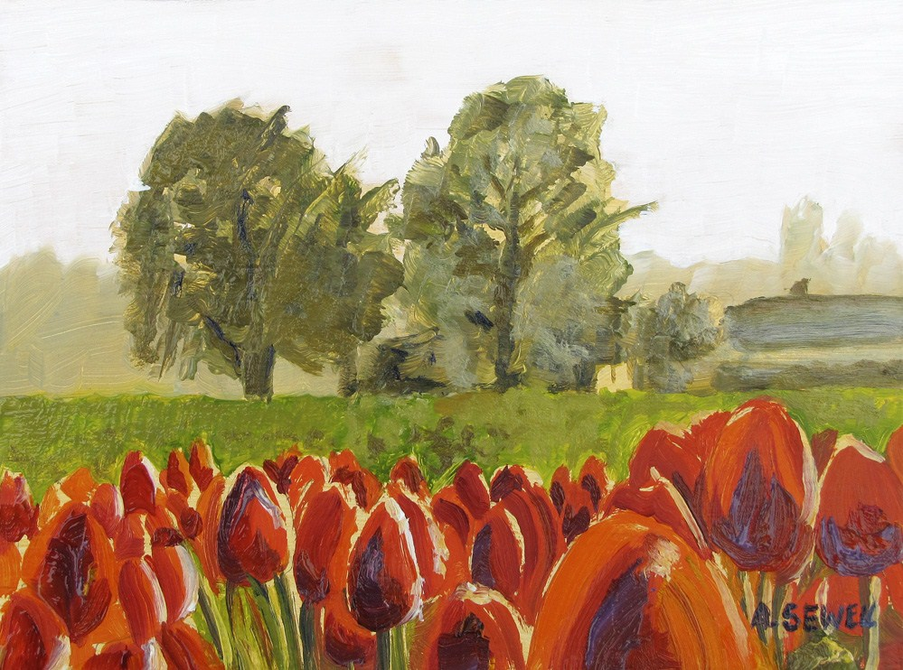 """""""Tulip Time"""" original fine art by Andy Sewell"""