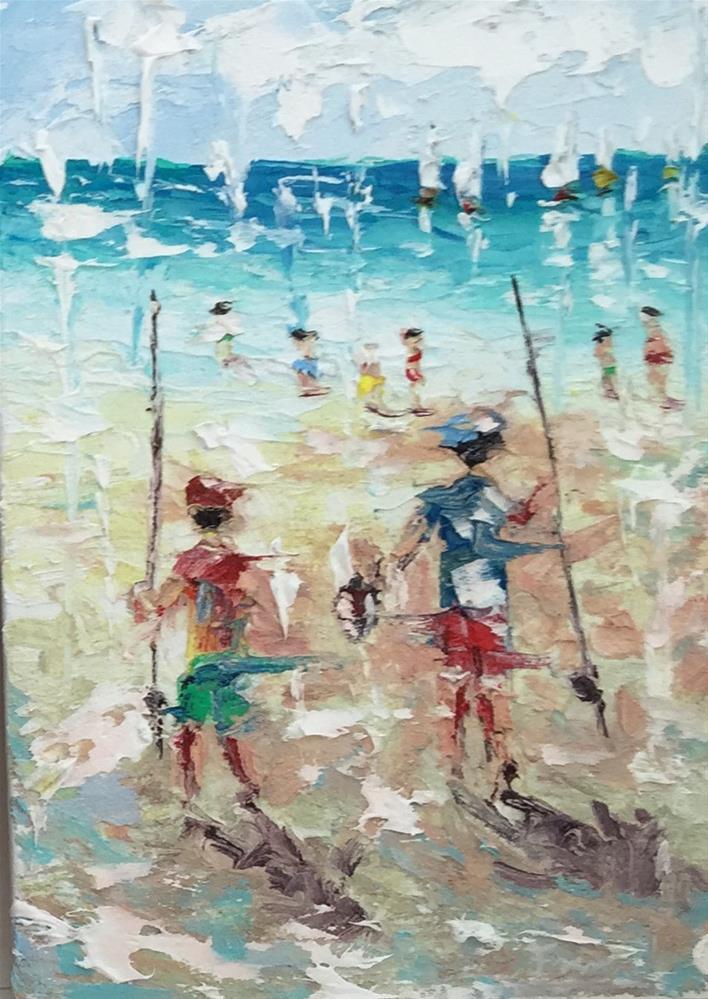 """Fishin Buddy's"" original fine art by Ken Fraser"