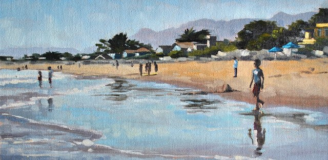 """Summertime - 6x12"" original fine art by Sharon Schock"