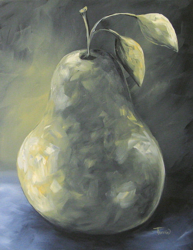 """""""The Olive Pear"""" original fine art by Torrie Smiley"""