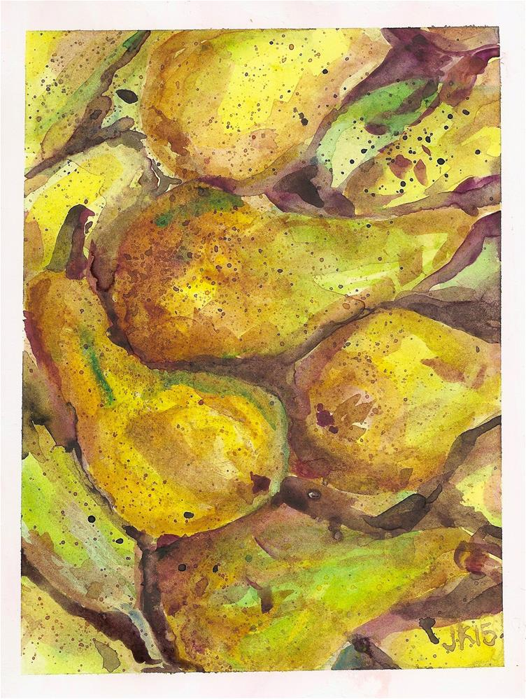 """""""Bosc Pears """" original fine art by Jean Krueger"""