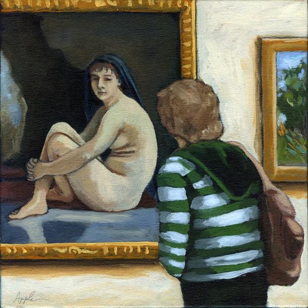 """Pensive Moments"" original fine art by Linda Apple"