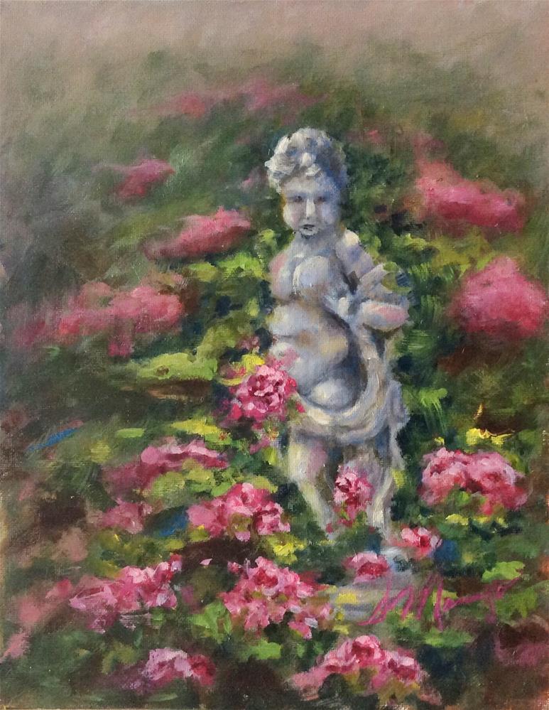 """""""Into the Garden"""" original fine art by Susie Monzingo"""