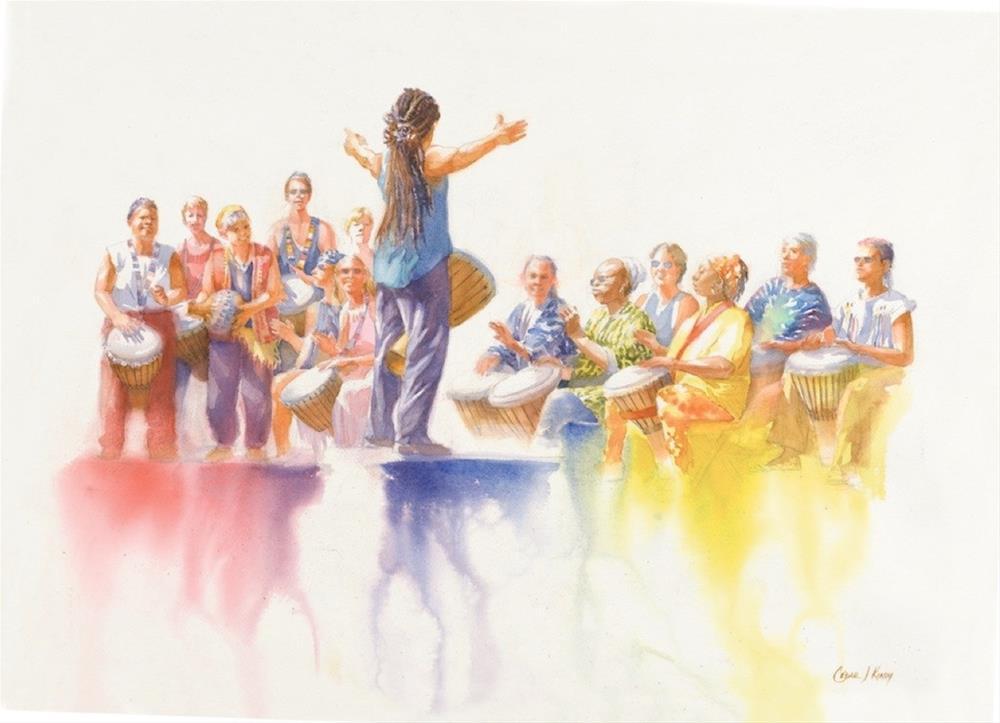 """Drumsong"" original fine art by Cedar Kindy"
