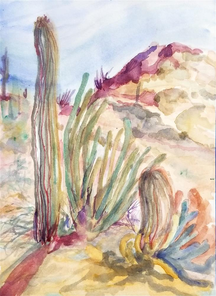 """Sonoran Desert"" original fine art by Jean Krueger"