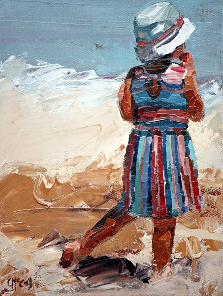 """""""Day At The Beach II"""" original fine art by Claire McCall"""
