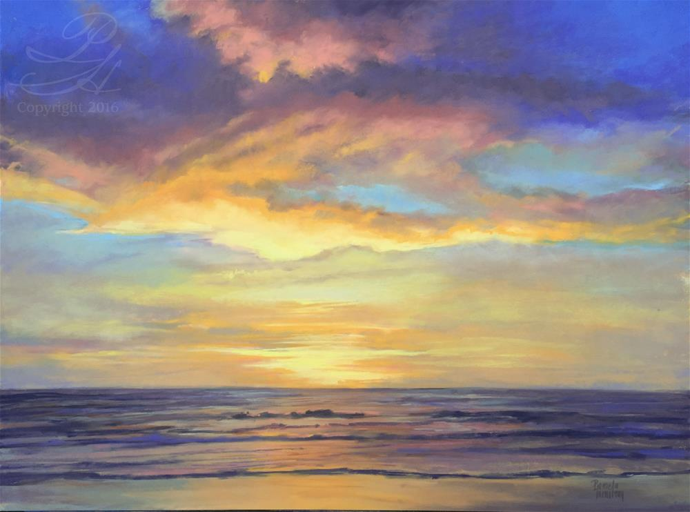"""Arch Cape At Sunset"" original fine art by Pamela Hamilton"