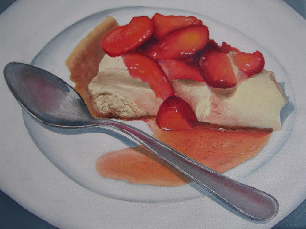 """Strawberry Cheese Cake"" original fine art by Kirk Kerndl"