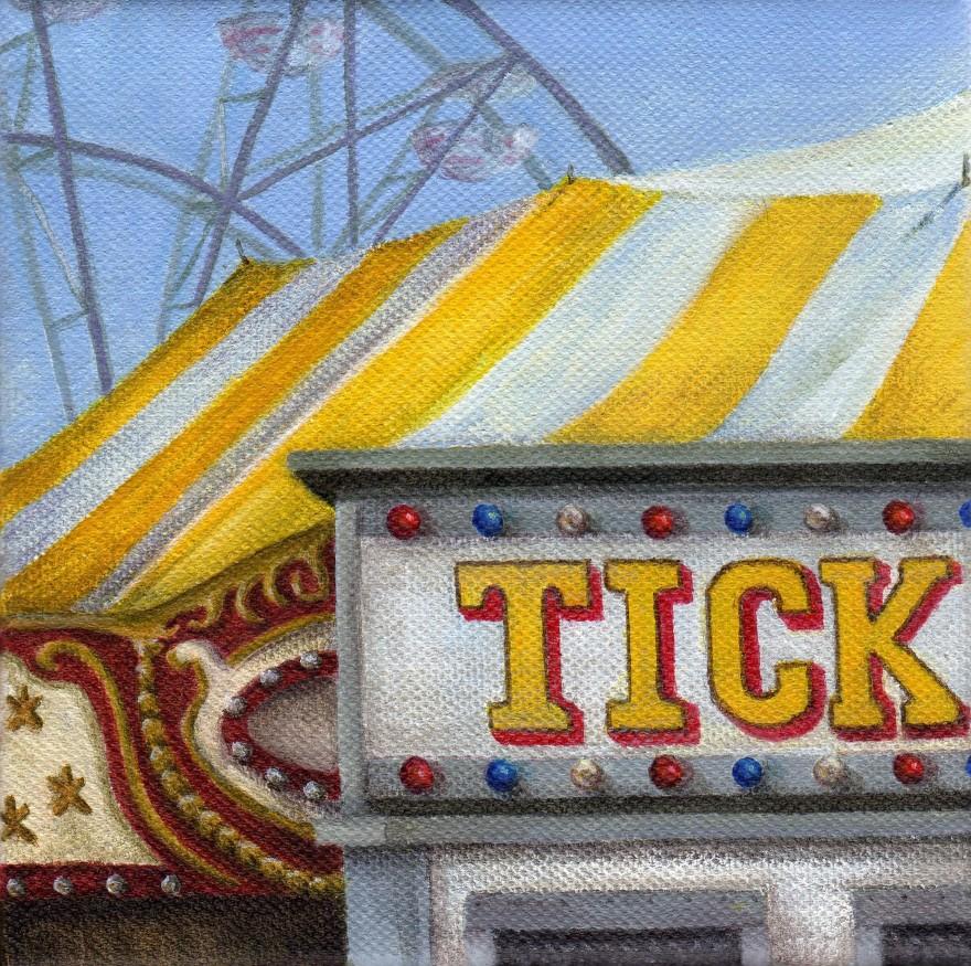 """Ticket to Ride"" original fine art by Debbie Shirley"