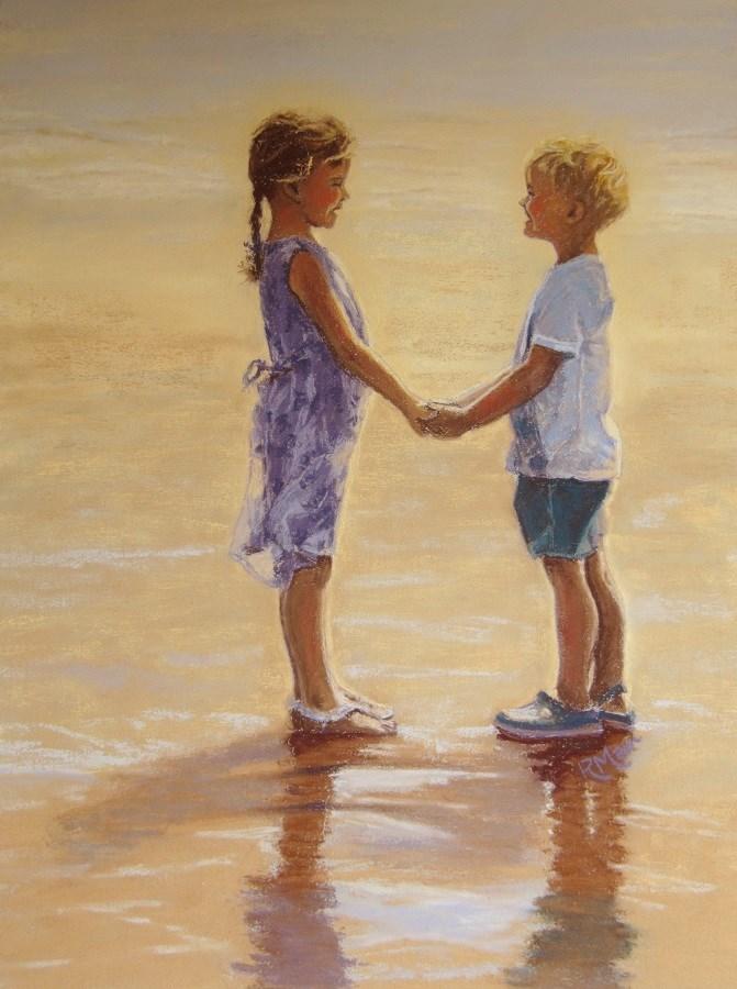 """""""Golden Days"""" original fine art by Ruth Mann"""