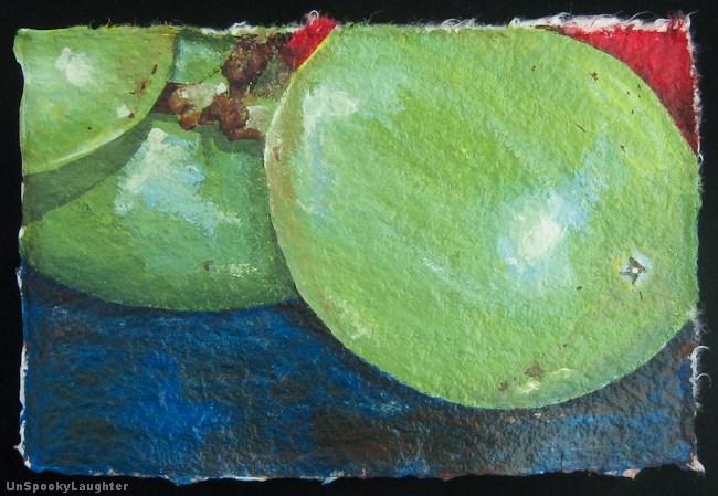 """Little Big Grapes"" original fine art by A.E.E. Miller"