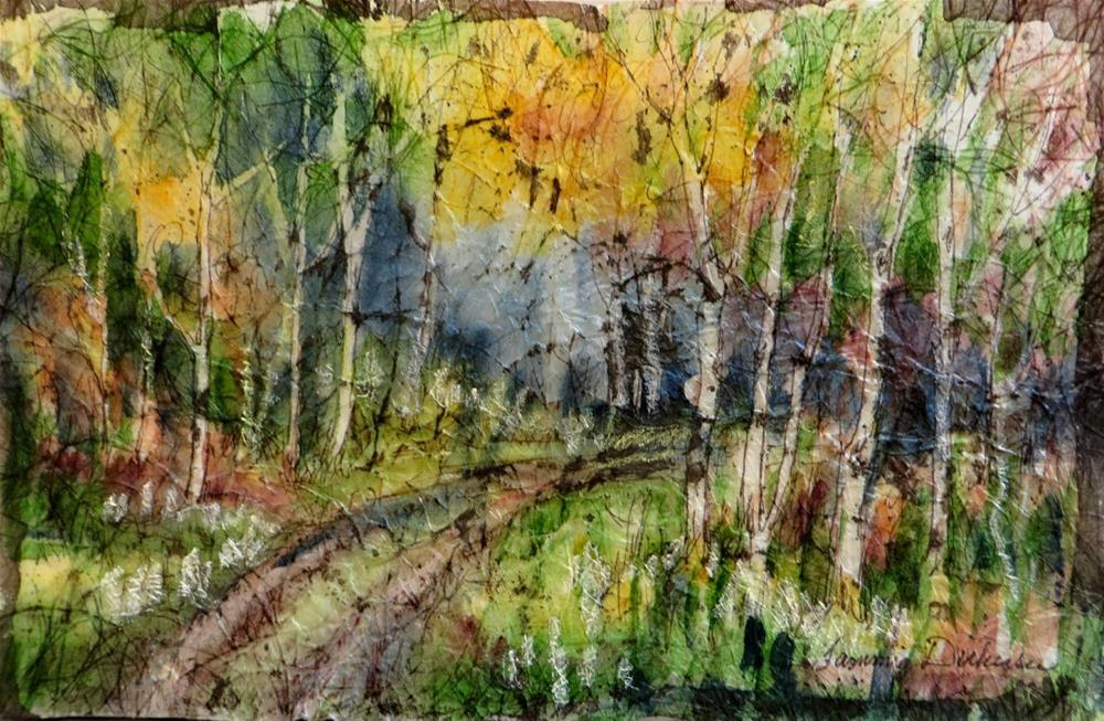 """Fall in the Forest"" original fine art by Tammie Dickerson"