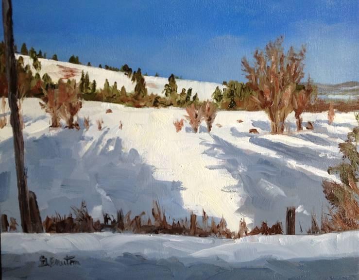 """""""Fencerow"""" original fine art by Gary Bruton"""