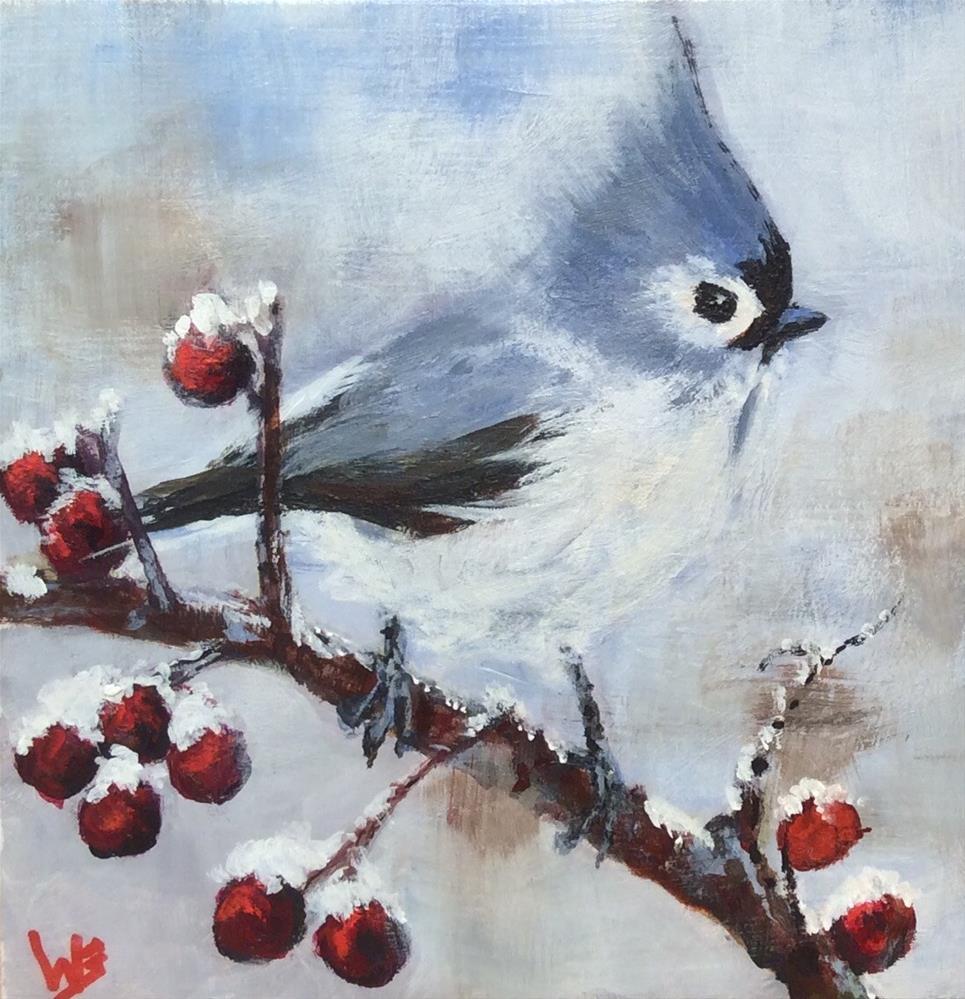 """""""Winter Sentinel"""" original fine art by wendy black"""