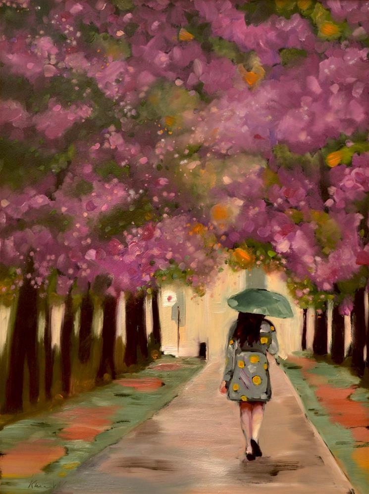 """Blossoming Fantasy"" original fine art by Karen Weber"