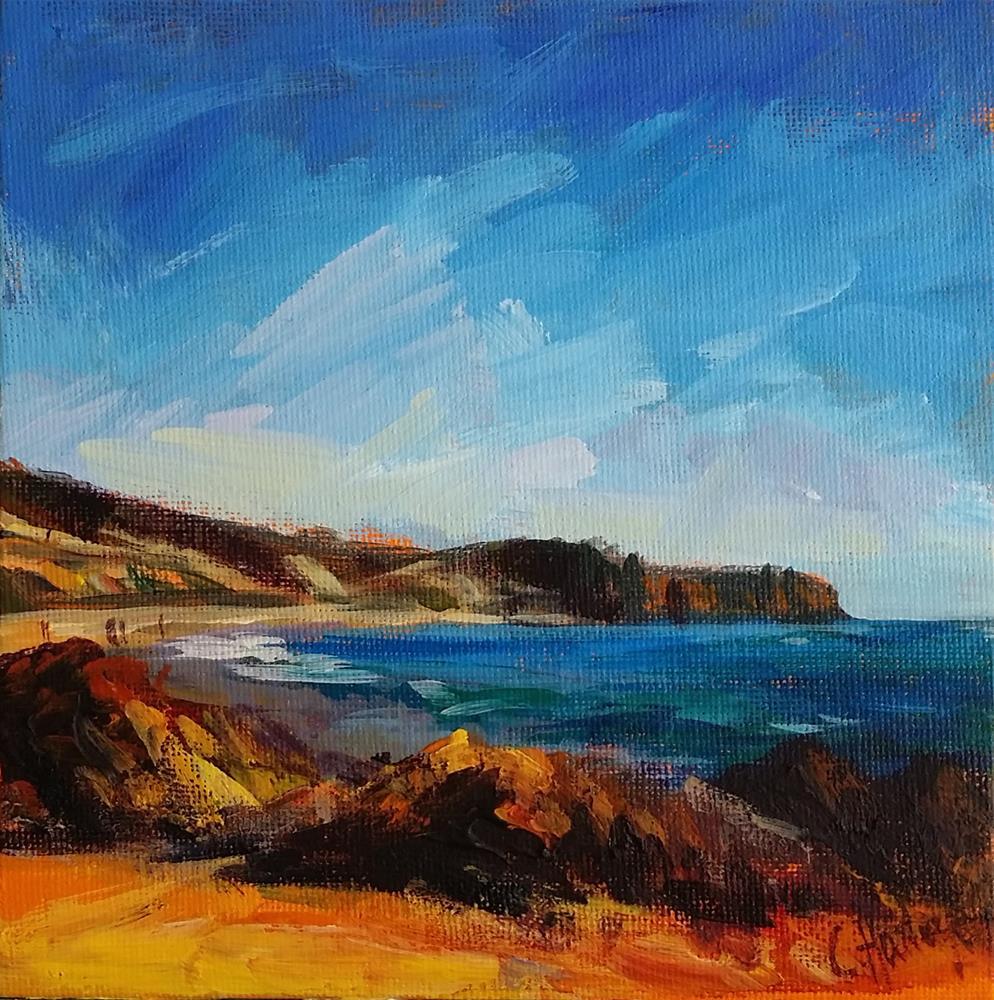 """Seascape n°2"" original fine art by Catherine Harley"