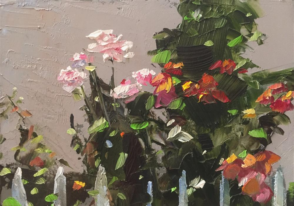 """Fence Row Roses"" original fine art by Gary Bruton"
