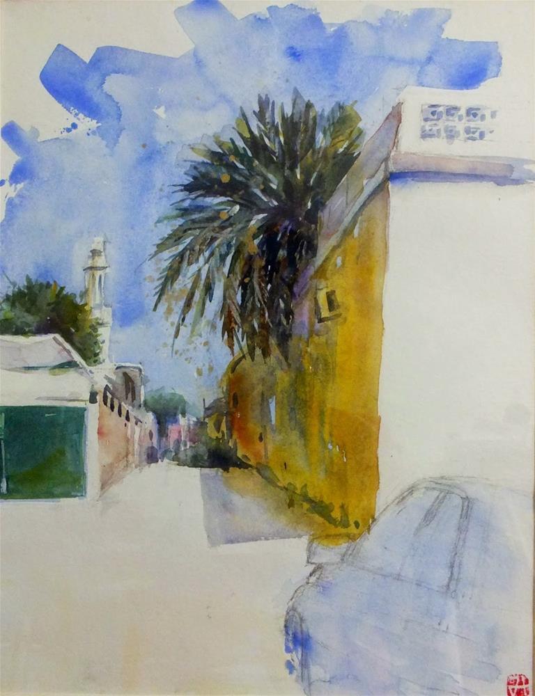 """""""A path in Al Ain"""" original fine art by Midori Yoshino"""
