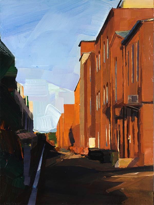 """""""Aurene Lane West, Corning NY"""" original fine art by Chris Breier"""