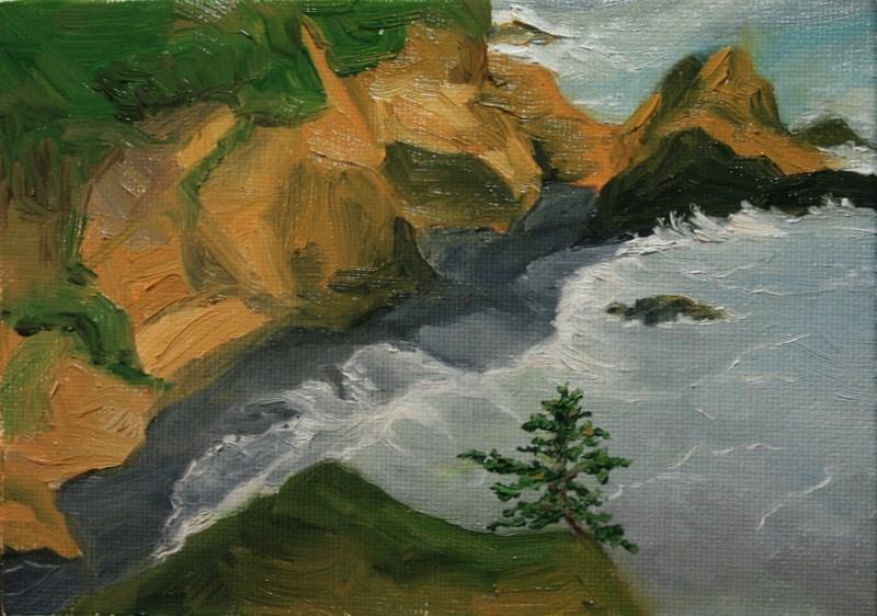 """Black Sand Cove"" original fine art by Jean Nelson"