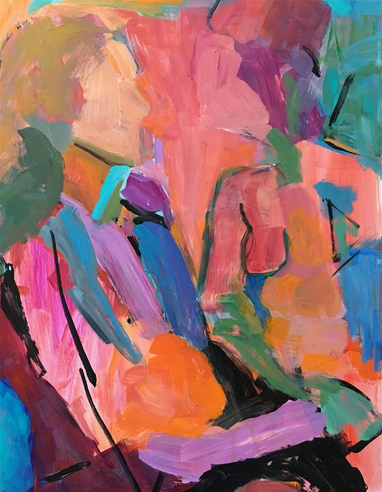 """""""Abstract figures"""" original fine art by Christine Parker"""