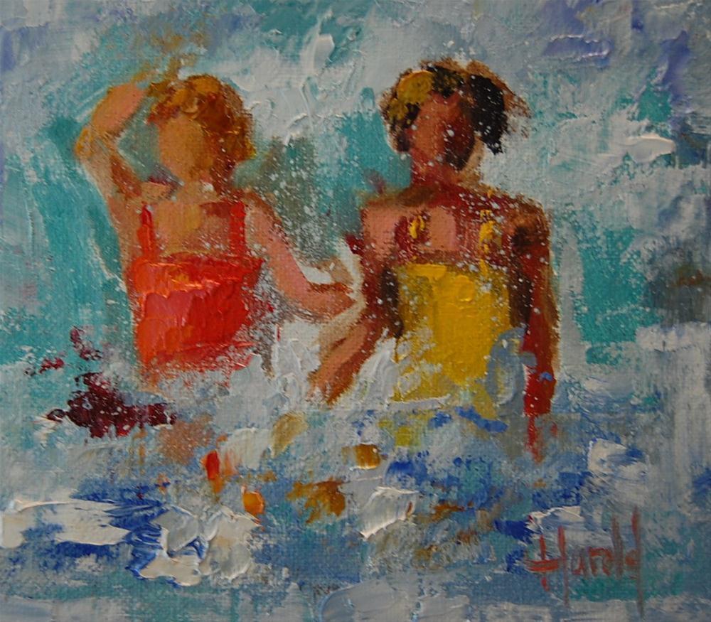 """Women in Waves"" original fine art by Deborah Harold"