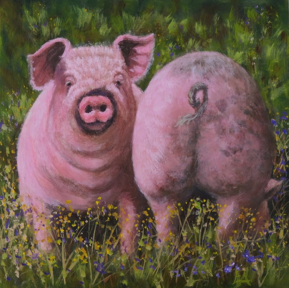 """Coming and Goink"" original fine art by Elizabeth Elgin"