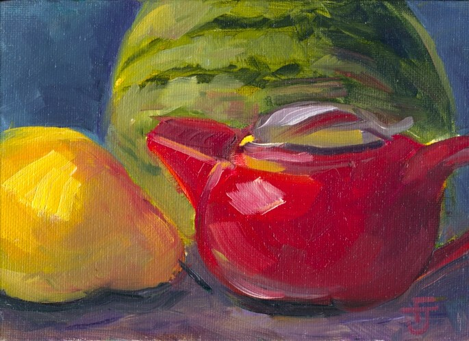 """""""Lovely Pairing"""" original fine art by Francine Dufour~Jones"""