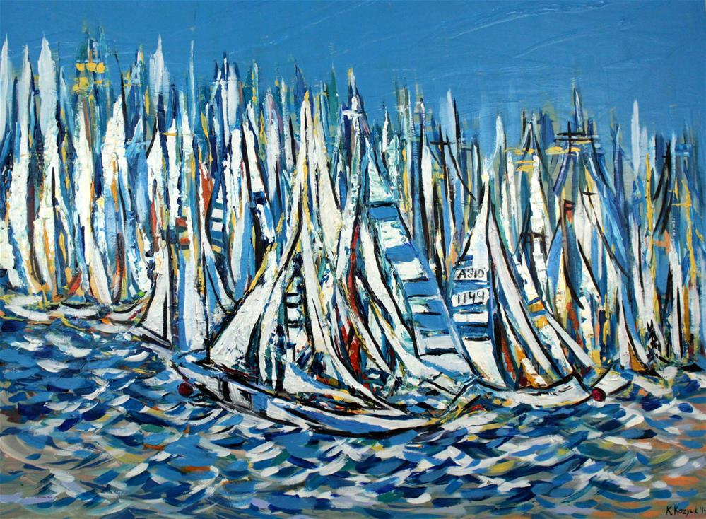 """America's Cup Race"" original fine art by Khrystyna Kozyuk"