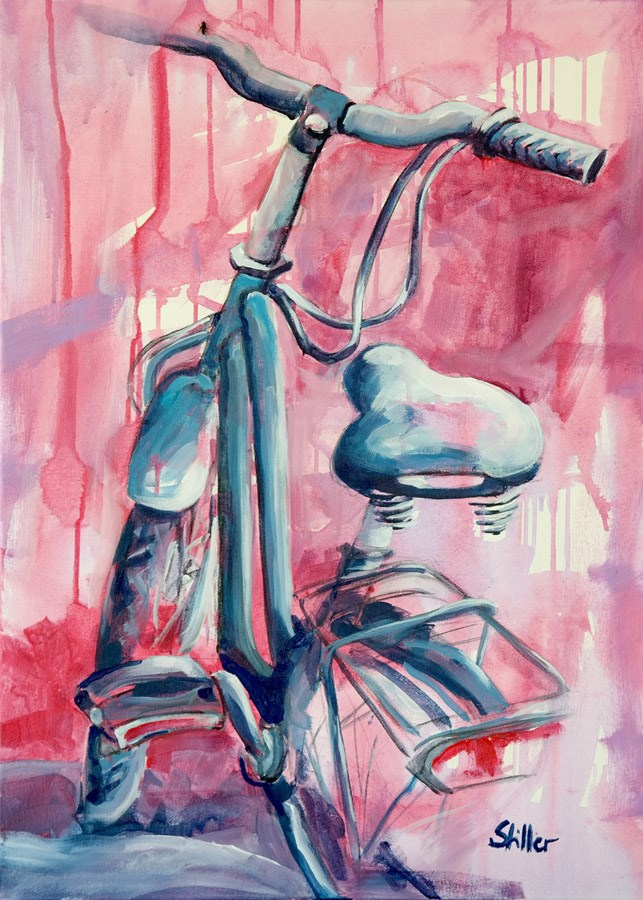 """2265 Ladybike (Painting of the Week #19)"" original fine art by Dietmar Stiller"