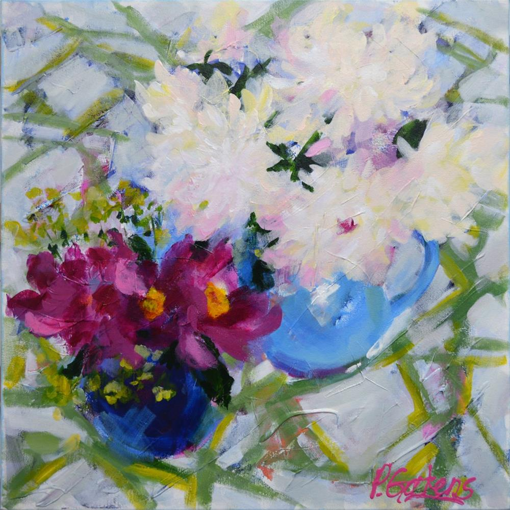 """Peonies for CV"" original fine art by Pamela Gatens"