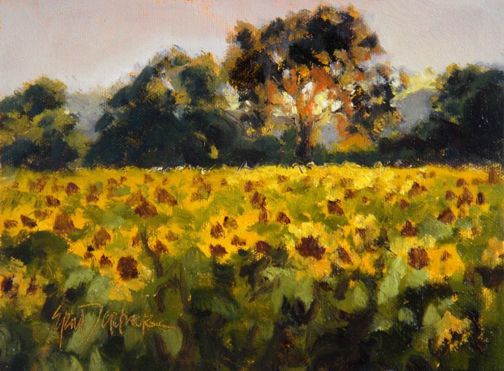 """Field Aflame"" original fine art by Erin Dertner"